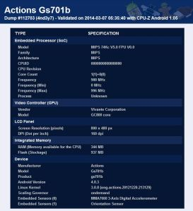 Actions Gs701b